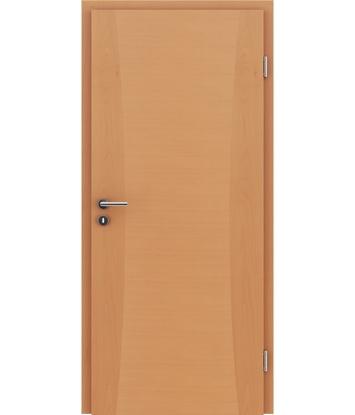 Picture of Veneered interior door with intarsia strips HIGHline – I13 Beech
