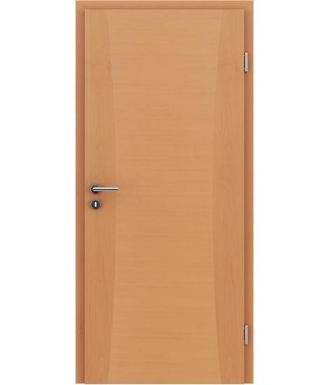 Veneered interior door with intarsia strips HIGHline – I13 Beech