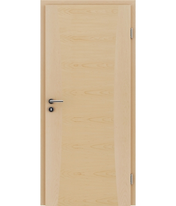 Veneered interior door with intarsia strips HIGHline – I13 Maple