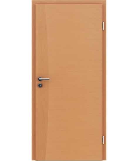 Veneered interior door with intarsia strips HIGHline – I14 Beech