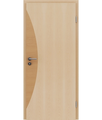 Veneered interior door with intarsia strips HIGHline – I3 Maple, intarsia strip alder