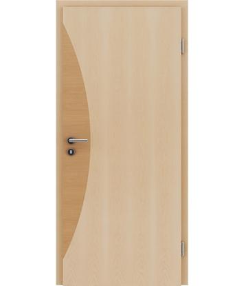 Veneered interior door with intarsia strips HIGHline – I3 Maple, intarsia strip alder