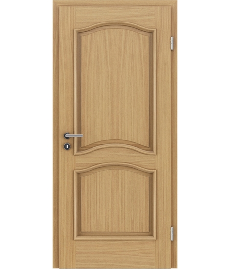 Veneered interior door with decorative strips NAPOLEON STILline – SNC European oak