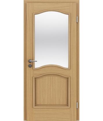 Picture of Veneered interior door with decorative strips NAPOLEON STILline – SNC SN3 European oak