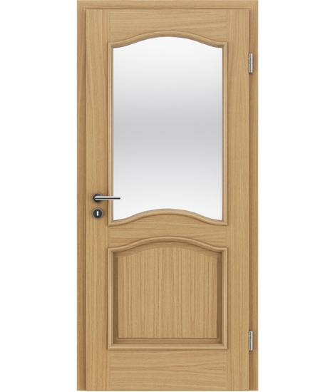 Veneered interior door with decorative strips NAPOLEON STILline – SNC SN3 European oak