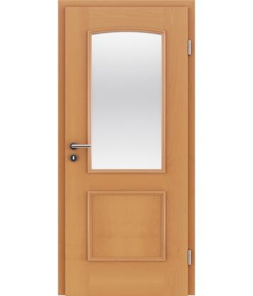 Picture of Veneered interior door with decorative strips STILline – SOA SO3 Beech