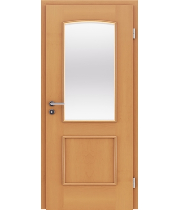 Veneered interior door with decorative strips STILline – SOAD SO3 Beech