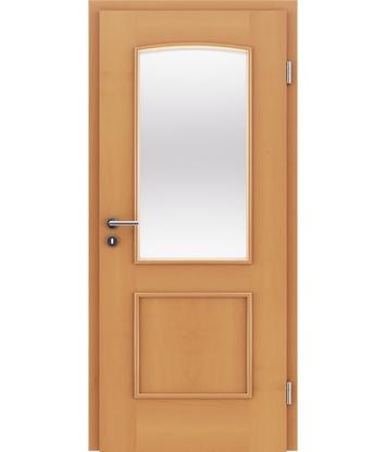 Picture of Veneered interior door with decorative strips STILline – SOAD SO3 Beech