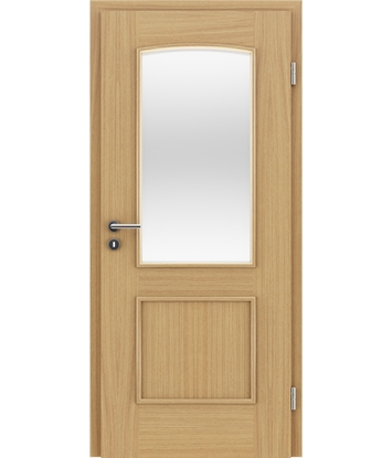 Picture of Veneered interior door with decorative strips STILline – SOAD SO3 European oak