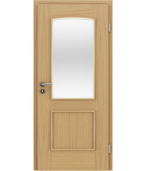 Veneered interior door with decorative strips STILline – SOAD SO3 European oak