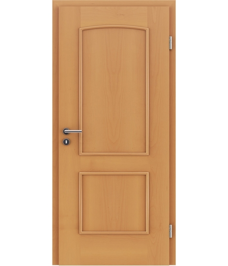 Veneered interior door with decorative strips STILline – SOAD Beech