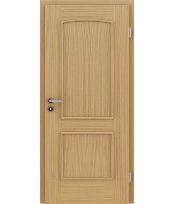 Veneered interior door with decorative strips STILline – SOAD  European oak