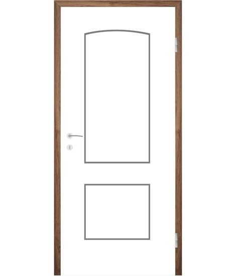 White-lacquered interior door with grooves COLORline – MODENA R14L