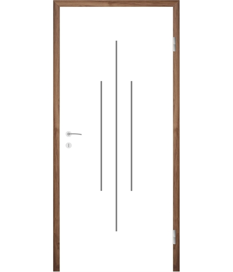 White-lacquered interior door with grooves COLORline – MODENA R22L