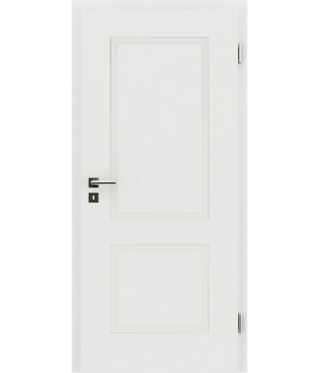 Picture of White-lacquered interior door with a relief-like surface KAISERline – R38L white-lacquered