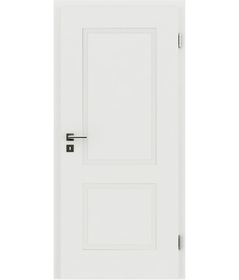 White-lacquered interior door with a relief-like surface KAISERline – R38L white-lacquered