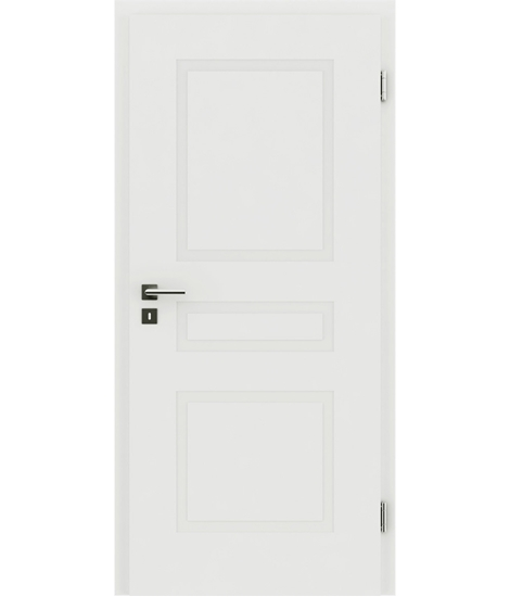 White-lacquered interior door with a relief-like surface KAISERline – R39L white-lacquered