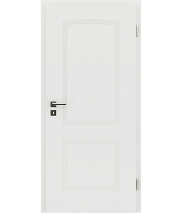 Picture of White-lacquered interior door with a relief-like surface and a curve KAISERline – R40L, white-lacquered