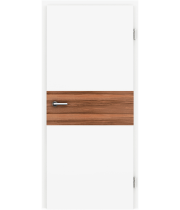 Picture of White-lacquered interior door BELLAline – I39R72L white-lacquered, Indian apple strip