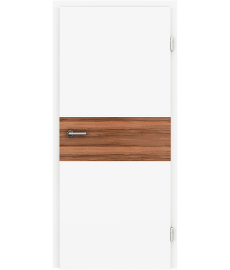 White-lacquered interior door BELLAline – I39R72L white-lacquered, Indian apple strip
