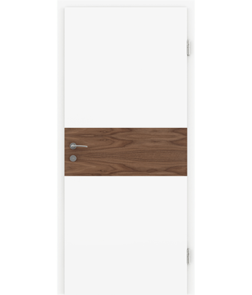 White-lacquered interior door BELLAline – I39R72L white-lacquered, oak strip