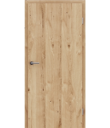 Veneered interior door with longitudinal structure GREENline - oak knotty cracked brushed naturally lacquered