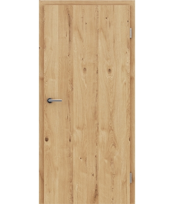Veneered interior door with longitudinal structure GREENline - oak knotty cracked brushed oiled