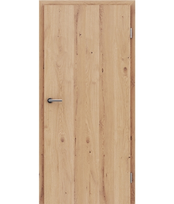 Picture of Veneered interior door with longitudinal structure GREENline - oak knotty cracked matt stained lacquered