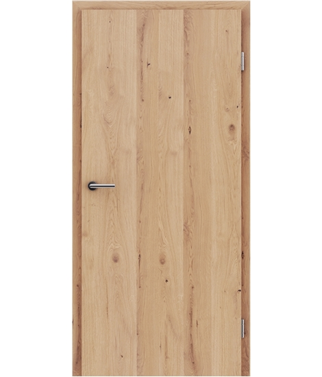 Veneered interior door with longitudinal structure GREENline - oak knotty cracked matt stained lacquered