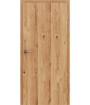 Veneered interior door with longitudinal structure GREENline - oak knotty cracked naturally lacquered