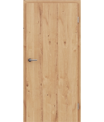 Veneered interior door with longitudinal structure GREENline - oak knotty cracked oiled
