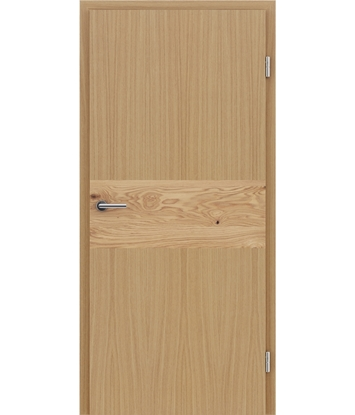 Picture of Veneered interior door with intarsia strips HIGHline – I39 oak, strip oak knotty