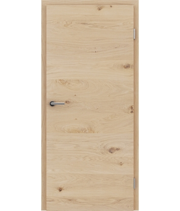 Picture of Veneered interior door with a combination of a transverse and longitudinal structure VIVCEline - F4 oak knotty white-oiled