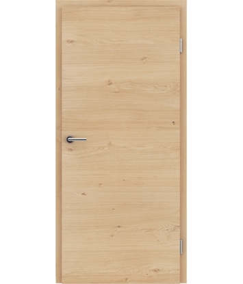 Picture of Veneered interior door with a combination of a transverse and longitudinal structure VIVCEline - F4 oak knotty brushed matt stained lacquered