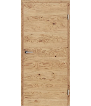 Veneered interior door with a combination of a transverse and longitudinal structure VIVCEline - F4 oak knotty naturally lacquered