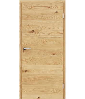 Veneered interior door with a combination of a transverse and longitudinal structure VIVCEline - F4 oak knotty oiled
