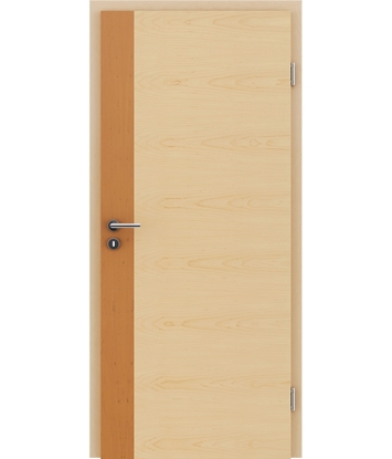 Picture of Veneered interior door with a combination of a transverse and longitudinal structure VIVCEline - F5 Alder, strip Maple