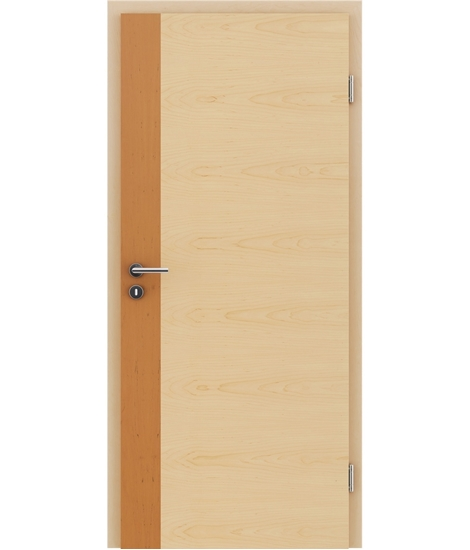 Veneered interior door with a combination of a transverse and longitudinal structure VIVCEline - F5 Alder, strip Maple