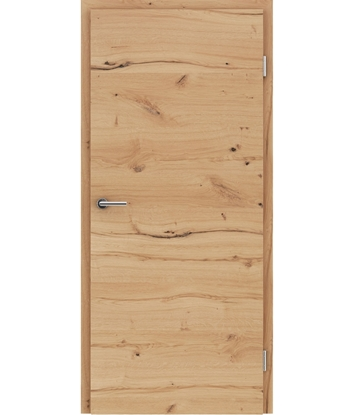 Picture of Veneered interior door with a combination of a transverse and longitudinal structure VIVCEline - F4 oak knotty cracked brushed oiled