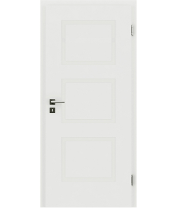 Picture of White-lacquered interior door with a relief-like surface KAISERline – R49L, white-lacquered