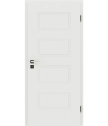 Picture of White-lacquered interior door with a relief-like surface KAISERline – R71L, white-lacquered