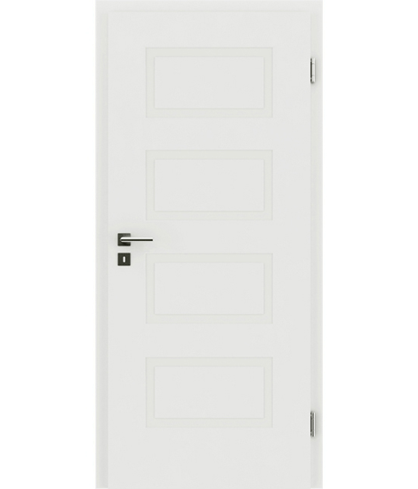 White-lacquered interior door with a relief-like surface KAISERline – R71L, white-lacquered