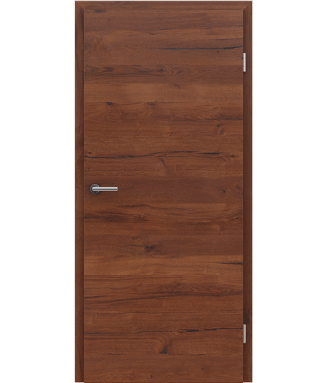 Veneered interior door with a combination of a transverse and longitudinal structure VIVCEline PRESTIGE - F4 oak Altholz matt lacquered