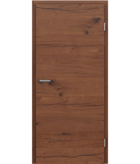 Veneered interior door with a combination of a transverse and longitudinal structure VIVCEline PRESTIGE - F4 oak Altholz oiled